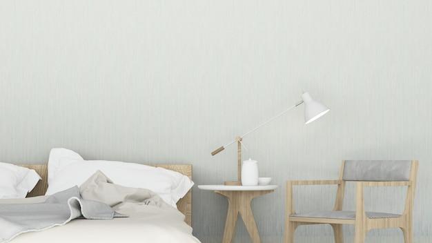 Интерьер спальни минимальный дизайн в квартире