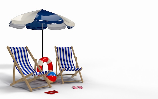 Пляжный зонт со стульями