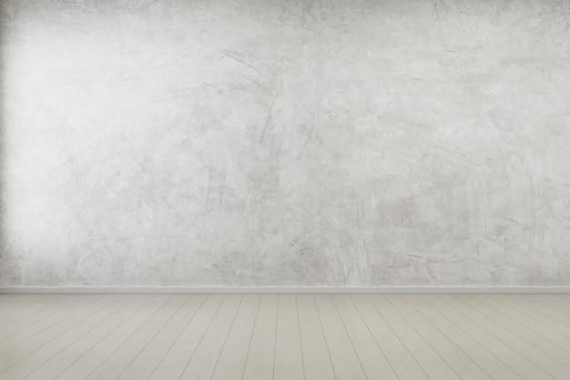 Пустая комната с бетонной стеной в современном доме.