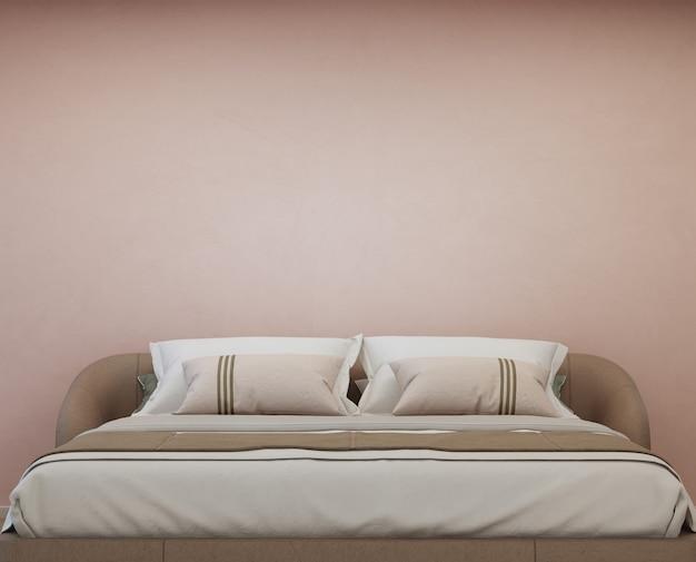 Спальня современного дома с двуспальной кроватью.