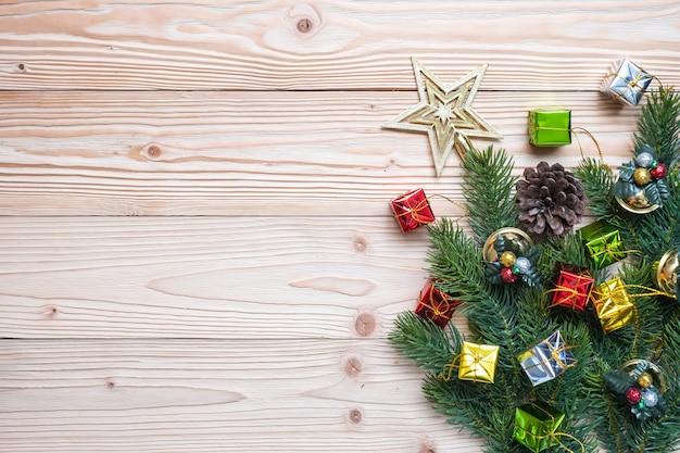 装飾、ギフトボックスとクリスマスの背景