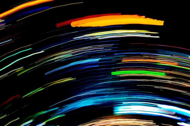 Красивое освещение ночной футуристической линии светодиодное здание абстрактное