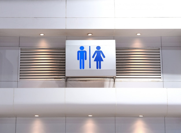 Световой короб знака общественного туалета