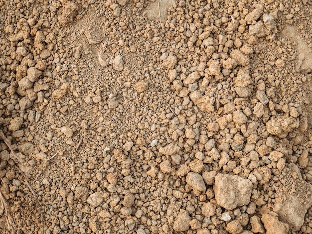 庭からの土の茶色。土壌テクスチャ背景