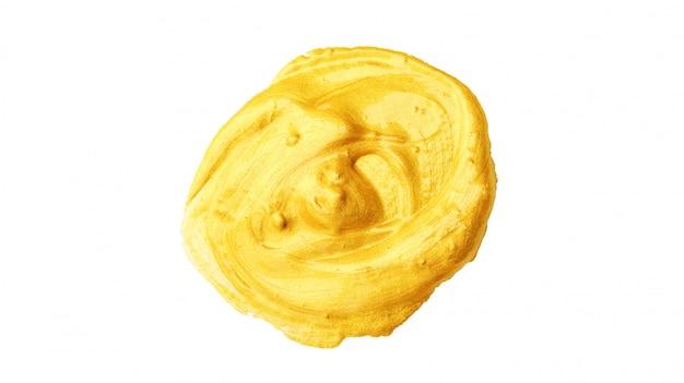 白い背景の上の金色のポスター水彩画。