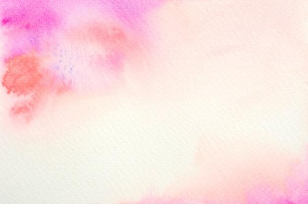 ピンクの水彩画の背景