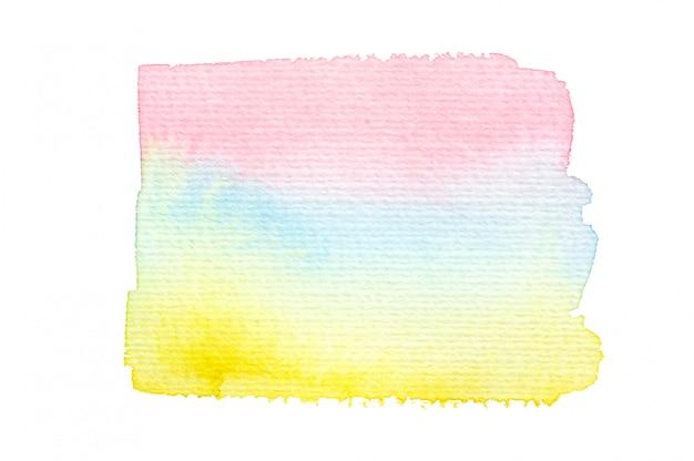 カラフルな水彩画の汚れ