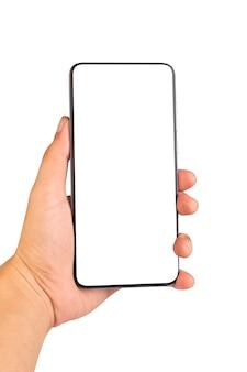 Рука телефона, изолированная на белом
