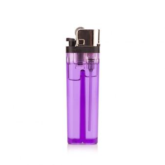 白地に紫のライター