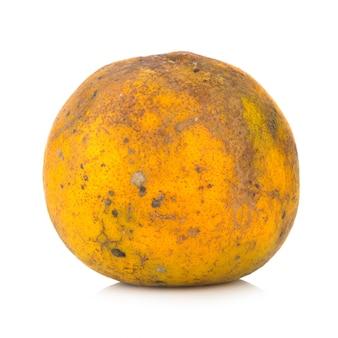 オレンジ。腐った。汚れた。白い背景で隔離
