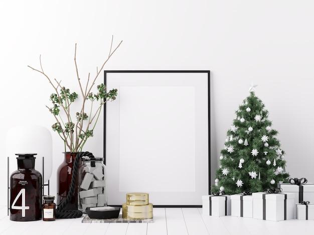 Плакат макета с рождеством и днем подарков