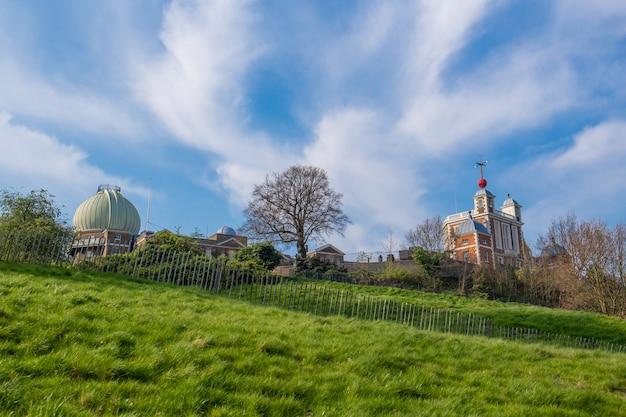 グリニッジの丘の上のロンドンの王立天文台