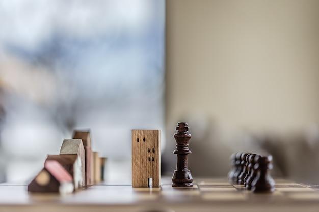 チェスゲームにおける建物と家のモデル