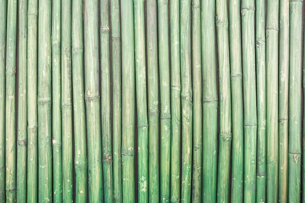 緑の竹のフェンステクスチャ背景