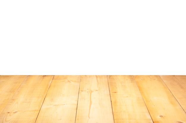 木製の床の正面図