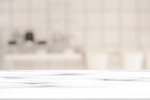 白い大理石の水晶視点カウンターとインテリアの豪華なモダンなバスルームの背景