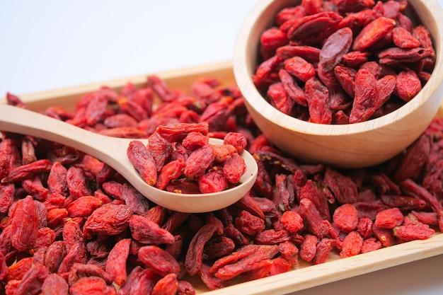 健康的な食事のための乾燥赤ゴジベリー