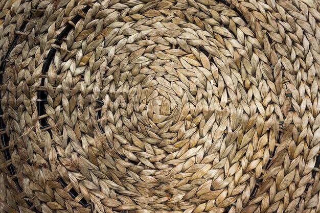 ストライプ織りロープ編みテクスチャ背景。