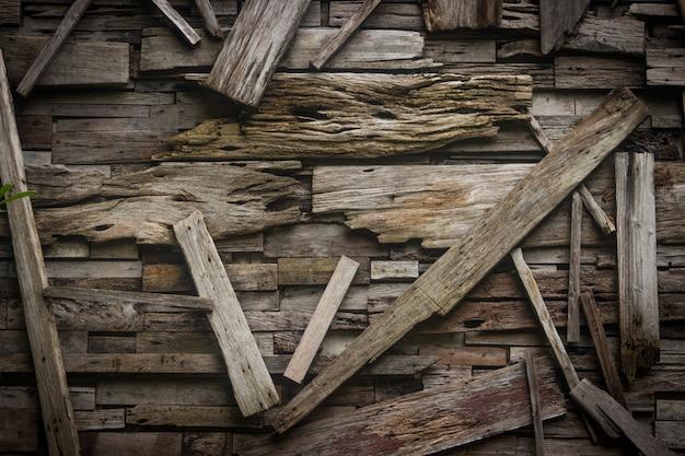 古い木の板テクスチャ背景のデザイン。
