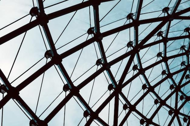Образ современной стеклянной архитектуры здания