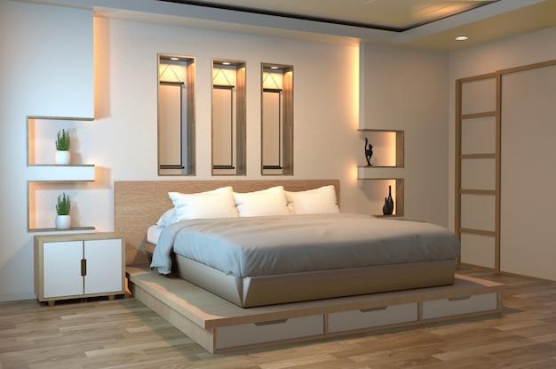 モダンな禅の静かなベッドルーム
