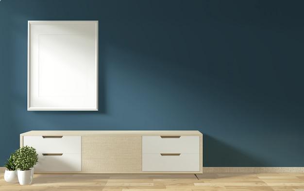 Тв шкаф в дзен современной пустой комнате в стиле минимализма янапезе