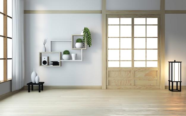 Пустая деревянная комната дзен в японском стиле