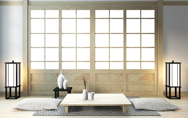 Комната дзен с японским декором
