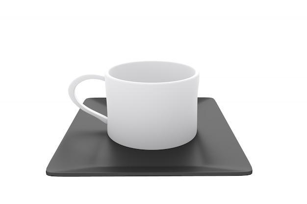 Японское традиционное с чашкой на белой предпосылке.