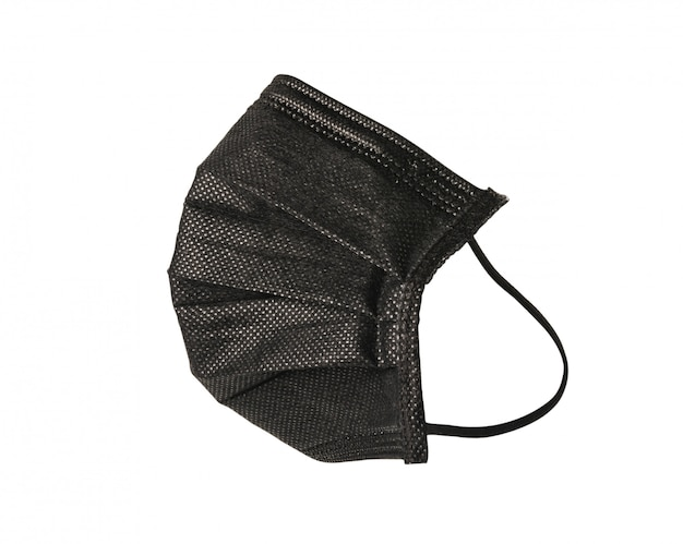 Черная медицинская маска для защиты от вирусов и пыли с отсечения путь.