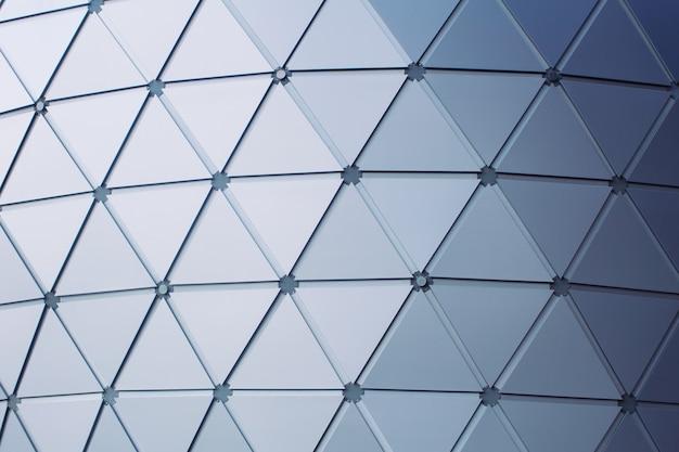 モダンな建物の三角形のジオメトリスタイルの屋根建築の背景