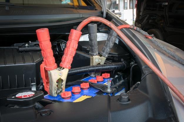 車のバッテリーの充電