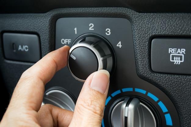 Включение системы кондиционирования автомобиля