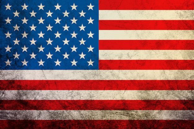 ビンテージアメリカ国旗を振ってアメリカ合衆国テクスチャ、背景