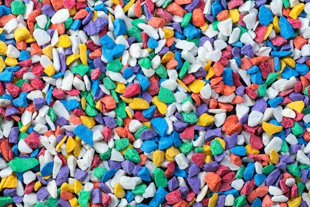 色の水族館の岩の背景