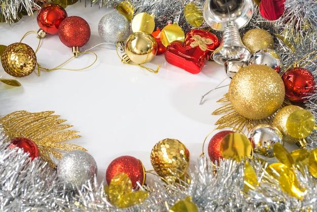 クリスマス装飾フレームの背景