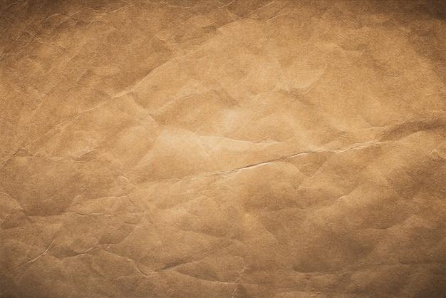 ブラウン古い紙のテクスチャ、ヴィンテージの紙の背景。