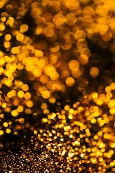 キラキラライトグランジ背景、キラキラ抽象的なきらめきライトとキラキラ星クリスマスライトの背景。