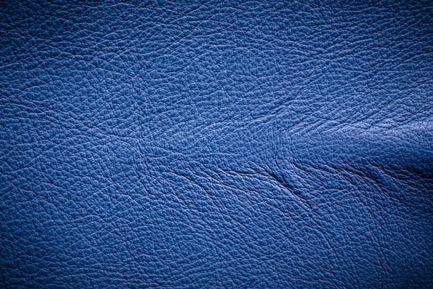 青色の革の背景。