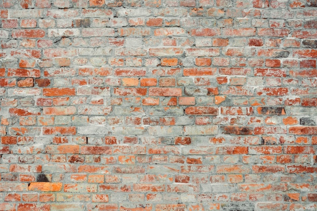 ヴィンテージとグランジの赤レンガの壁