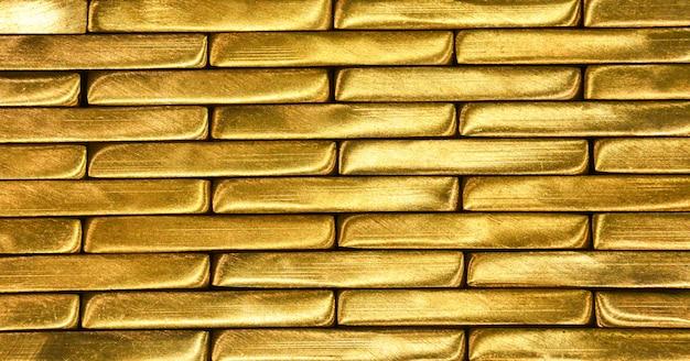 光沢のある真鍮バーテクスチャの背景