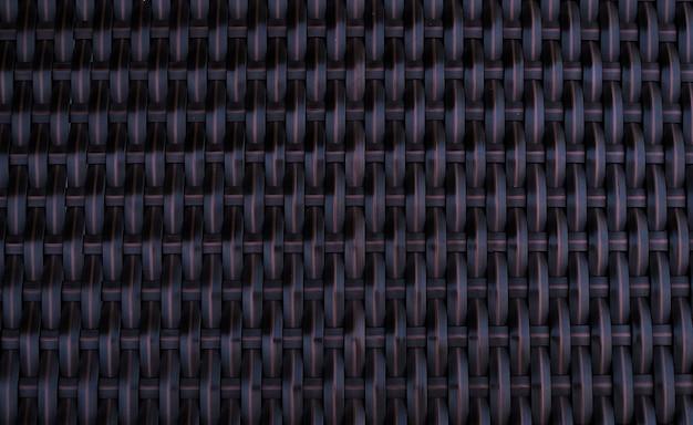 背景のプラスチック製の椅子テクスチャを織りのパターン。