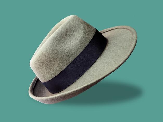 Винтажная шляпа мужской моды стиль изоляции
