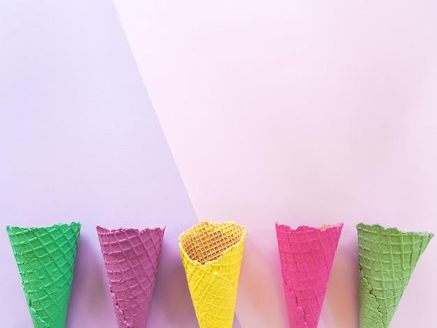 平面図、アイスクリームの最小限の夏。
