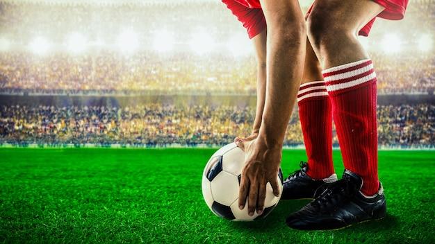 サッカーフットボールの試合