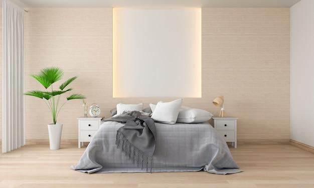 モックアップのための寝室のインテリア