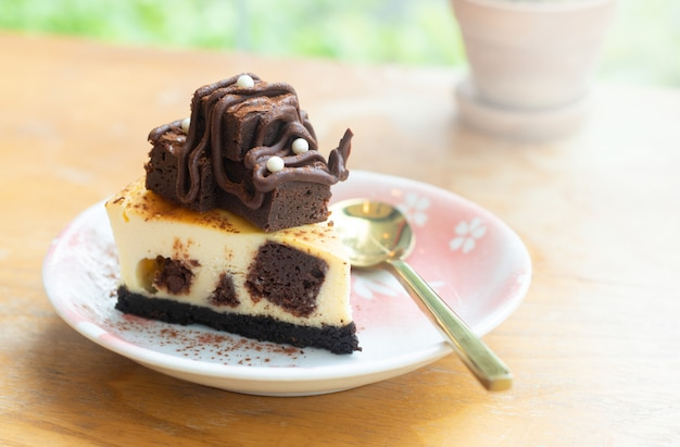 ブラウニーチーズケーキ