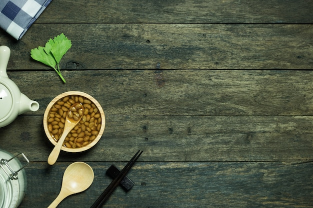 大豆の背景から豆ペースト発酵中華料理
