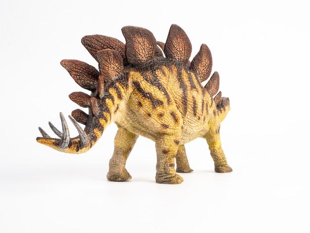 Стегозавр динозавр на белом