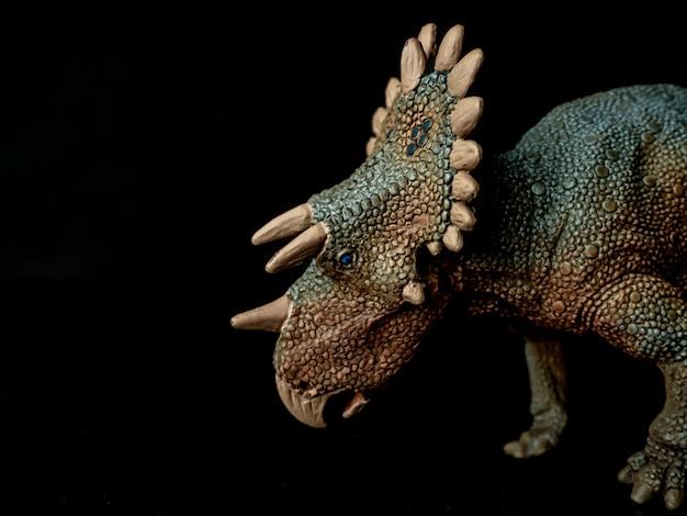 黒のレガリケラトプス恐竜